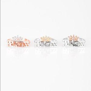 Princess tiara rings